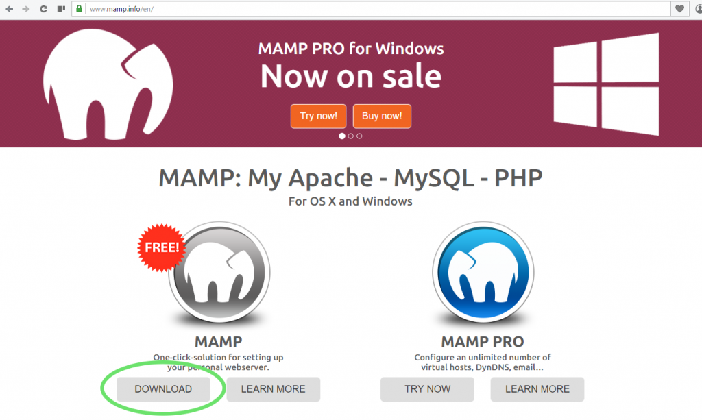 Installer MAMP et WordPress