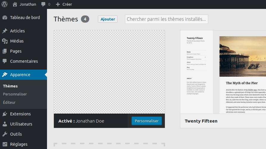 Création de thème WordPress