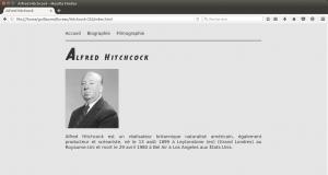 Mise en forme du site Hitchcock avec les CSS