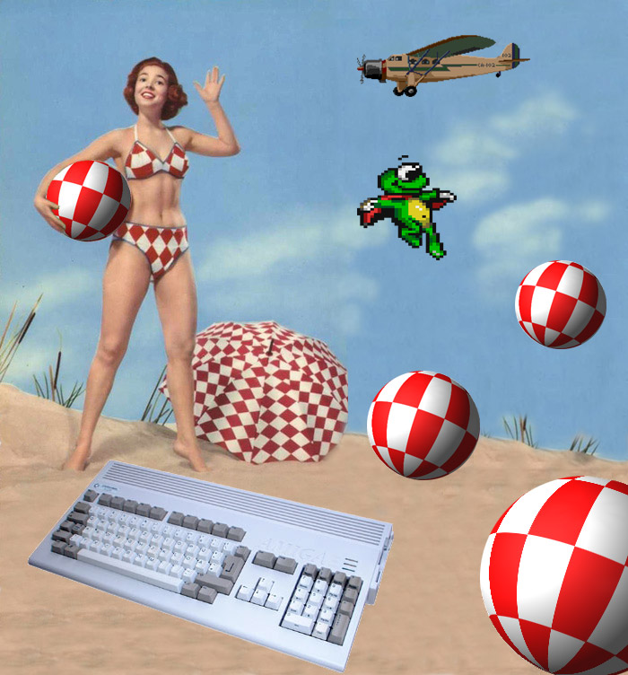 Composition Pinup et Amiga