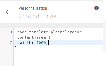 CSS personnalisé dans WordPress