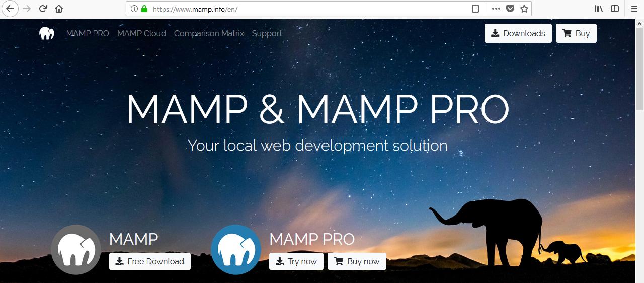 MAMP site