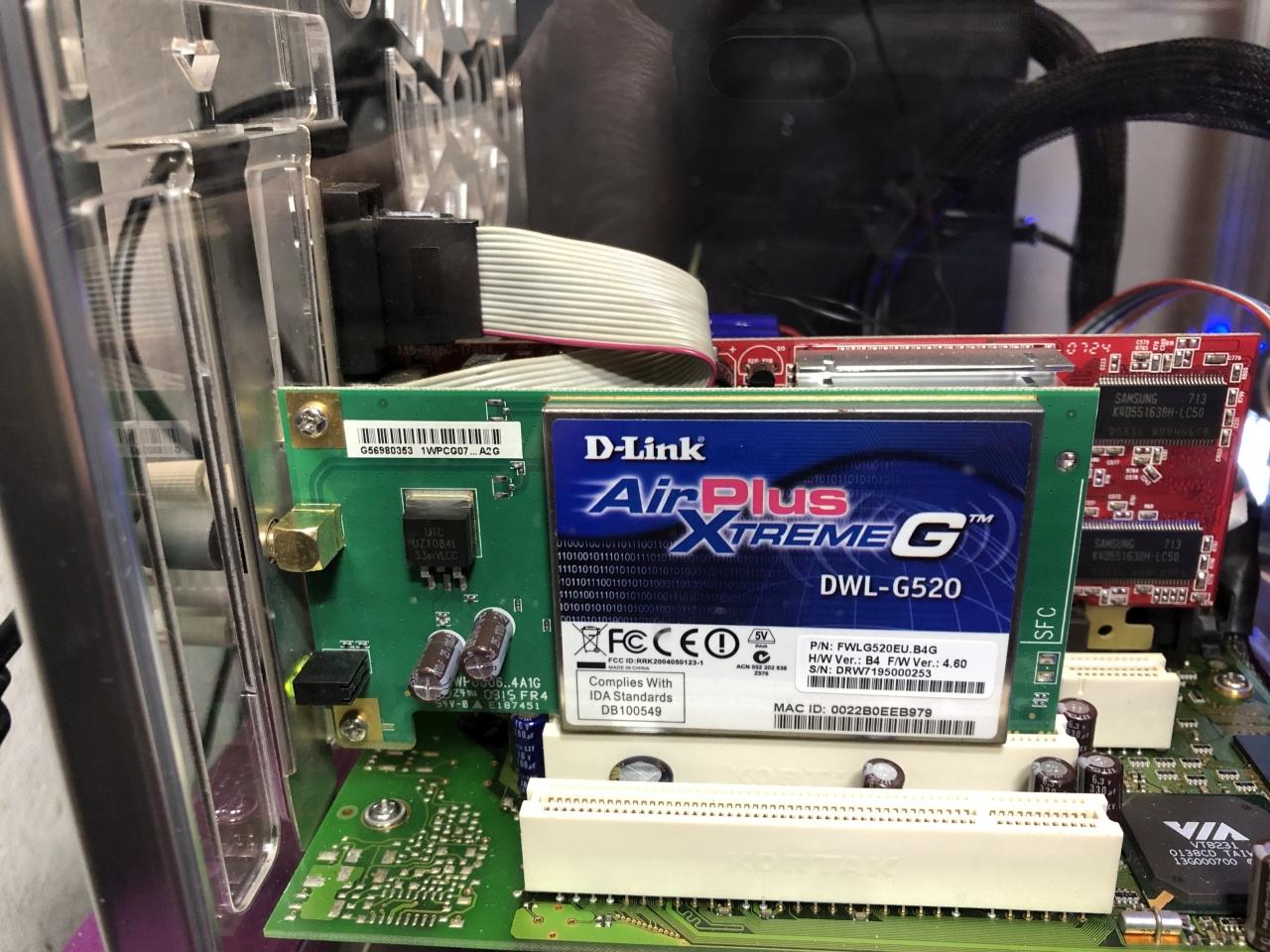 DWL-G520 Wifi Pegasos