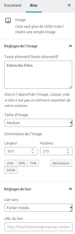 Paramètres images