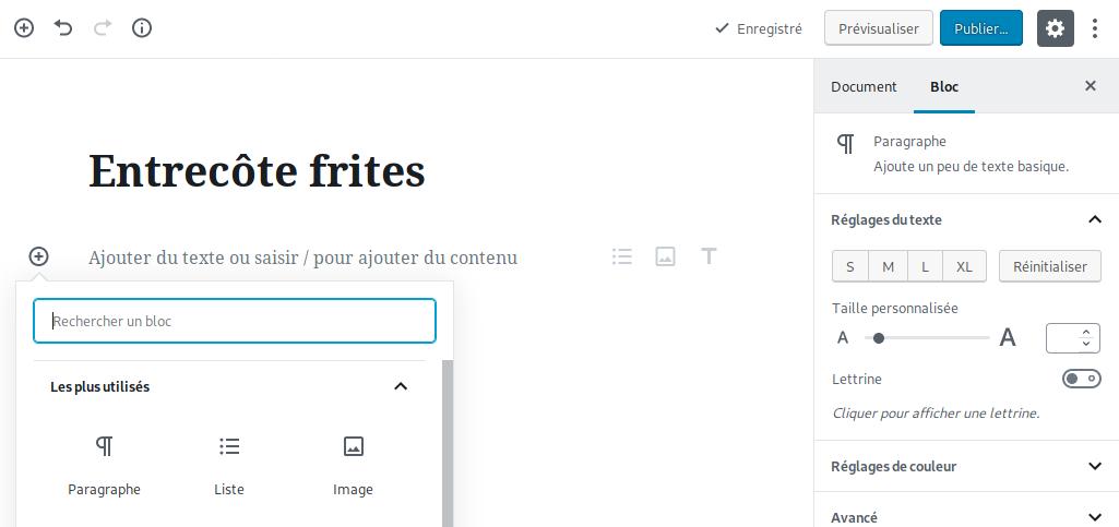 créer article