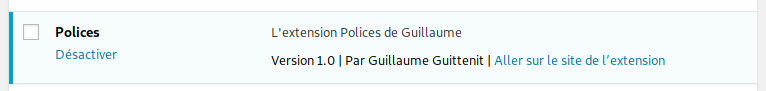 Extension Polices WordPress