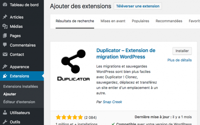 Duplicator WordPress