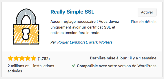 Really Simple SSL extension WordPress