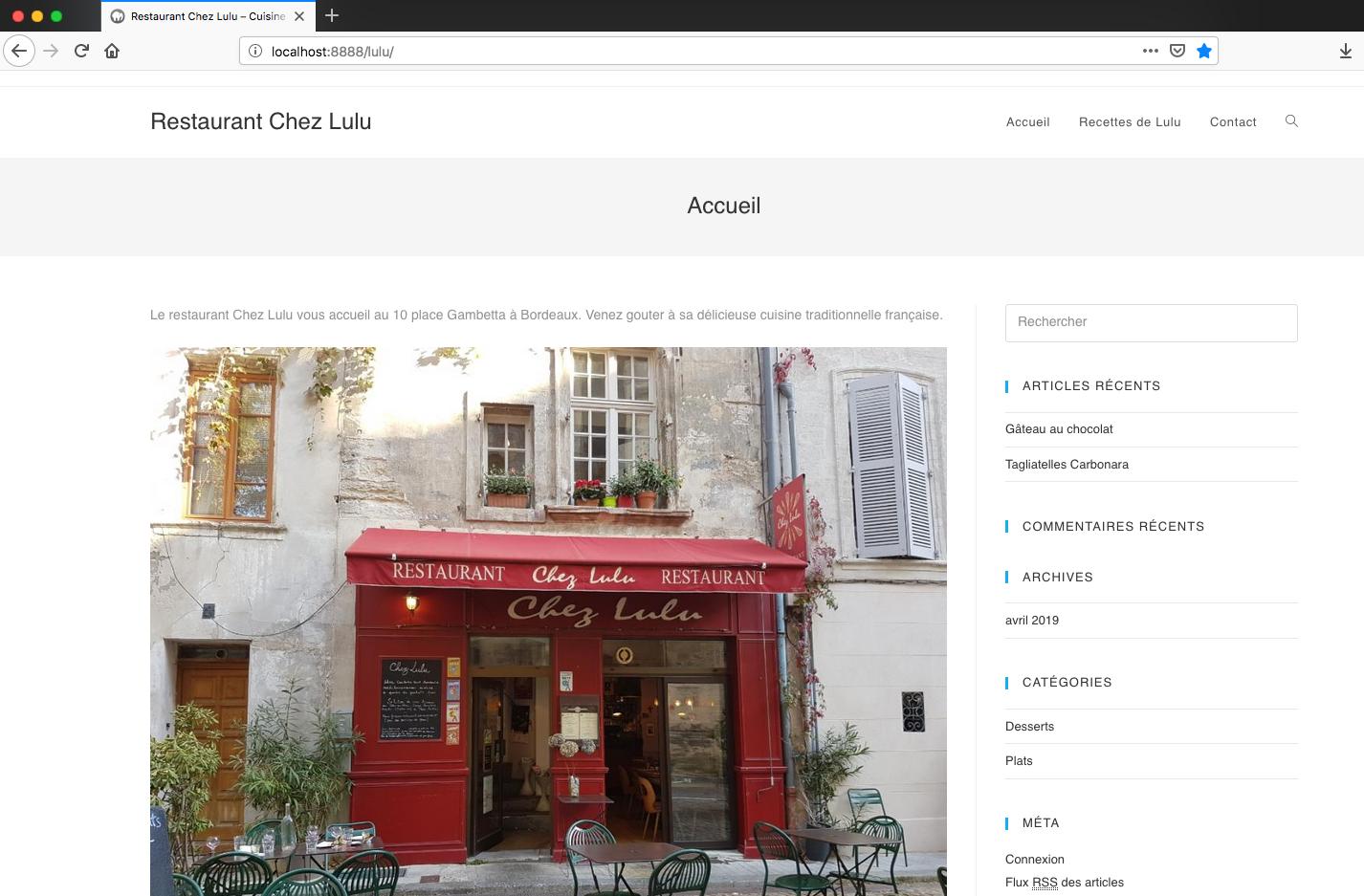 Site Web local sur MAMP