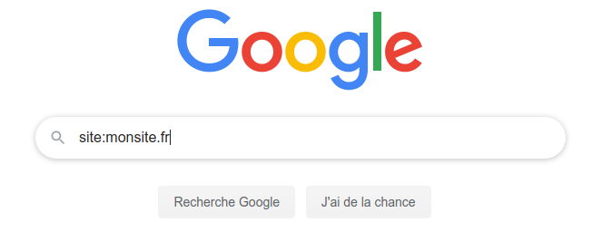 Rechercher son site dans Google site:monsite.fr