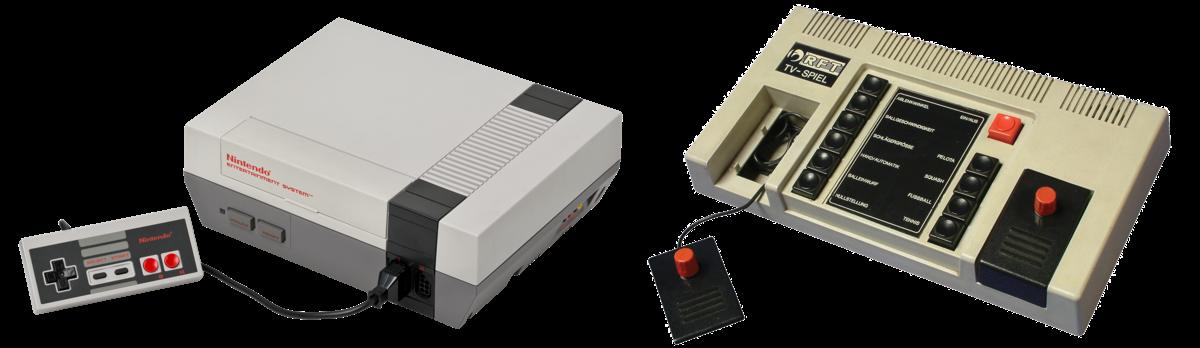Consoles NES et PONG